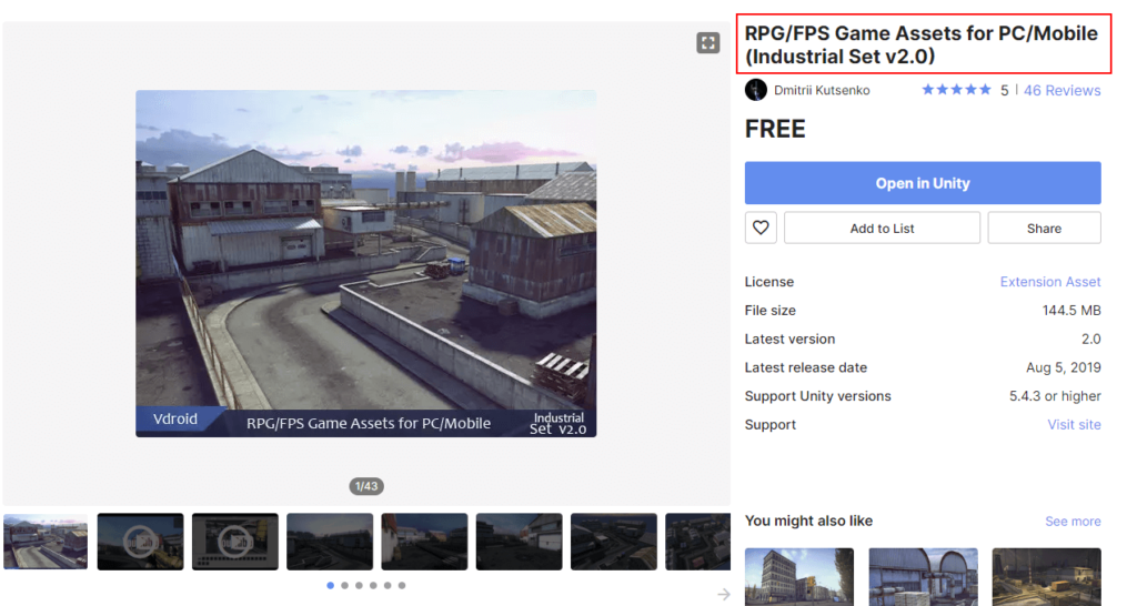 Import 3D Asset from Unity Store