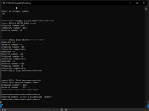 Advance code Output
