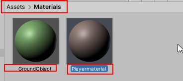Player & Ground Material