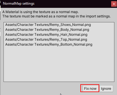 Normal Map setting