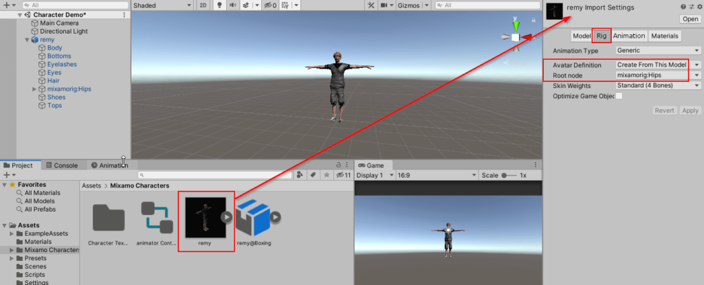 Character Model Setting - Root Node