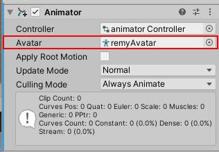 Add Avatar in Animator Component